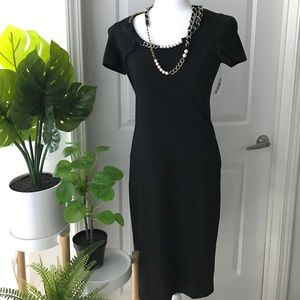 Moschino dress with attached necklace NWT